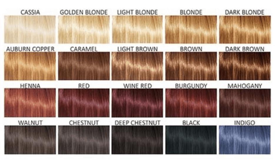 Henna colours